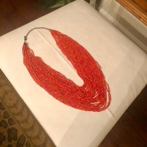 Jewelry - Coral multi-strand necklace with clasp closure